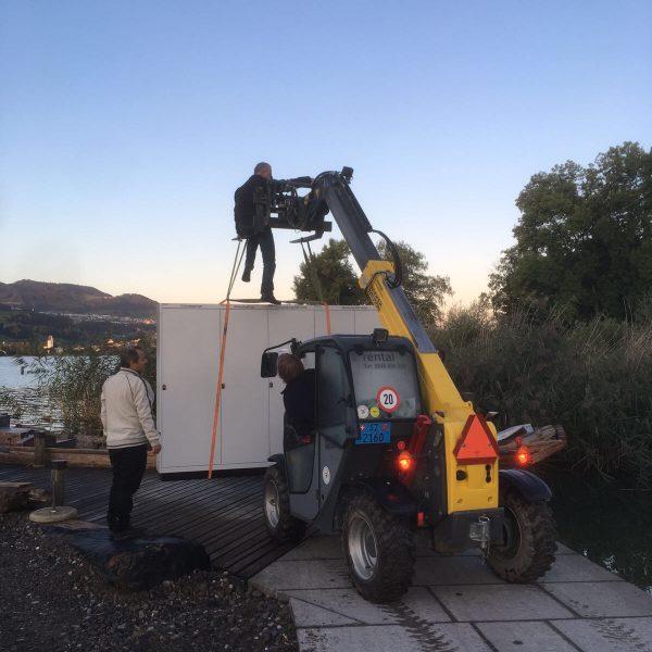 Auslieferung HV / Messung auf die Insel Ufenau